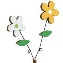 Fiore in legno decorato H44cm 6 pezzi