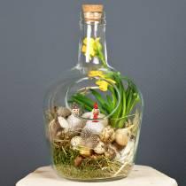 Vaso decorativo bottiglia di vetro con tappo in sughero Ø19cm H30cm