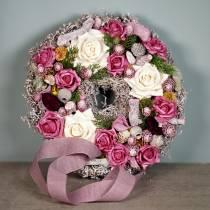 Crema alla rosa in schiuma Ø15cm 4 pezzi