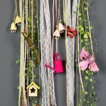 Uccelli decorativi sulla clip rosa / viola 9 cm 8 pezzi