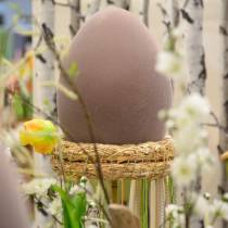 Uovo di Pasqua floccato grande 40cm