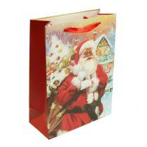 Sacchetto regalo di Babbo Natale 32 cm x 26 cm x 10 cm