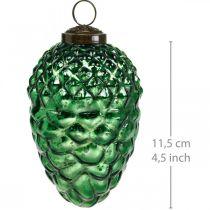Decorazione dell'Avvento, coni decorativi, vero vetro di frutti autunnali, aspetto antico Ø7cm H11,5cm 6 pezzi