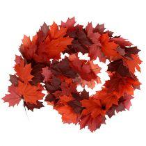 Ghirlanda di acero rosso-arancio 170 cm