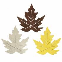Foglie di acero sparse gialle, marroni, platino assortite 4 cm 72 pezzi