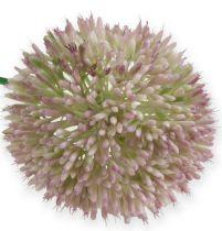 Fiore di seta artificiale Allium verde, cipolla ornamentale rosa come fiore artificiale