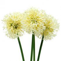 Allium ornamentale bianco artificiale 51cm 4 pezzi