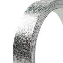 Nastro in alluminio filo piatto argento opaco 20mm 5m
