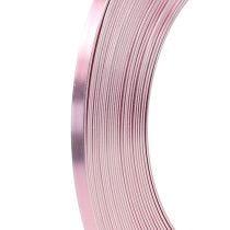 Filo piatto di alluminio rosa 5mm 10m