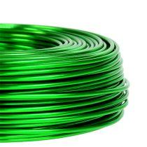 Filo di alluminio Ø2mm 500g 60m verde mela