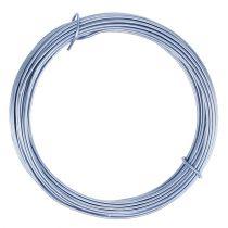 Filo di alluminio blu pastello Ø2mm 12m