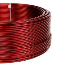 Filo di alluminio rosso Ø2mm 500g (60m)