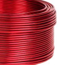 Filo di alluminio rosso Ø2mm 500g 60m
