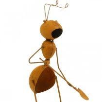 Decorazioni da giardino, borchie in metallo per formica, borchie per piante in acciaio inossidabile, formica con vanga