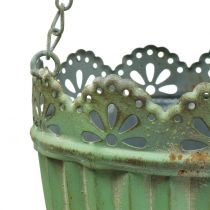 Cesto di fiori verde antico Ø19 / 15cm 2 pezzi