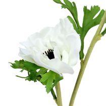 Anemone bianco artificiale 6 pezzi