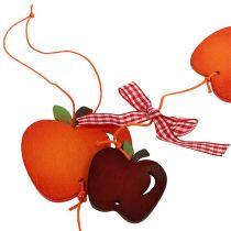 Ghirlanda di mele rossa 86 cm 3 pezzi