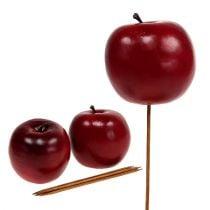 Mela artificiale rossa Ø7,5cm 6 pezzi