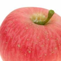 Mela decorativa rosa, gialla Real-Touch 6,5 cm 6 pezzi