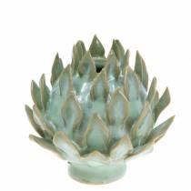 Vaso decorativo art shock verde ceramica Ø9,5 cm H9 cm