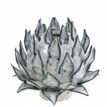 Vaso decorativo art shock ceramica blu, bianco Ø9,5 cm H9 cm