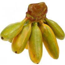 Mazzo di banane artificiali, frutta decorativa, baby banane L7–9cm