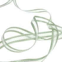 Nastro regalo verde menta con argento 15mm 20m