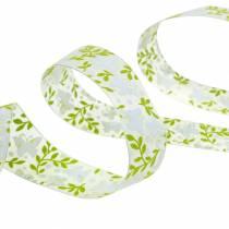 Nastro decorativo con farfalle 25mm nastro di organza verde nastro regalo 20m