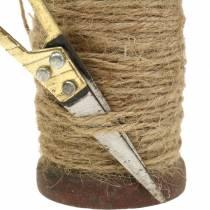 Bobina di nastro iuta nastro con forbici Ø5cm H8cm 2 pezzi