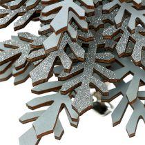 Albero di Natale da sospendere con campana Colore argento 40cm
