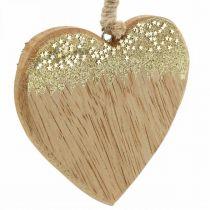 Decorazione natalizia stella / cuore / albero, ciondolo in legno, decorazione dell'avvento H10 / 12,5 cm 3 pezzi