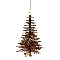 Addobbo natalizio Albero di Natale da sospendere con campana Colore rame 40 cm