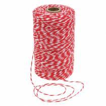 Cordone rosso / bianco 220m