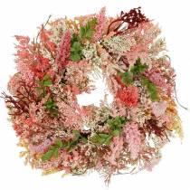 Ghirlanda di erica rosa artificiale Ø48cm