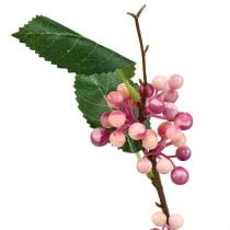 Ramo di bacche Artificiale rosa-viola 64 cm 6 pezzi