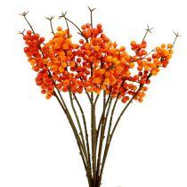 Ramo di bacche arancione L 30 cm 12 pezzi