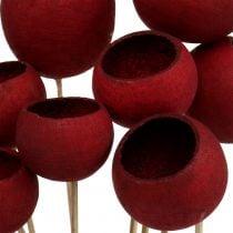 Bell Cup Mix su stecco rosso scuro 15pz