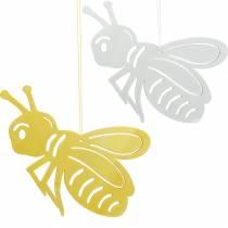 Figura in legno ape, decoro primaverile, ape da appendere, insetto decorativo 6pz