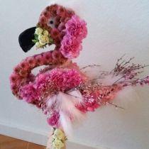 Figura di schiuma floreale Flamingo 70 cm x 35 cm