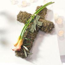 Croce di schiuma floreale piccola Verde 42cm 4p Floristica funebre
