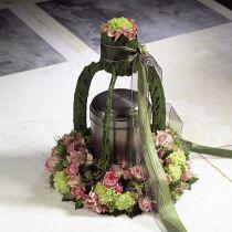 Corona ad anello in schiuma floreale di diverse dimensioni