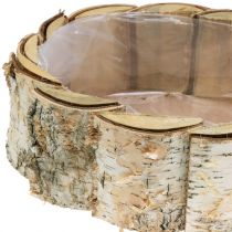 Fioriera ovale in betulla 2 pezzi