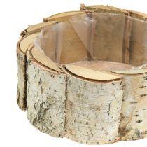 Fioriera rotonda in betulla 2 pezzi