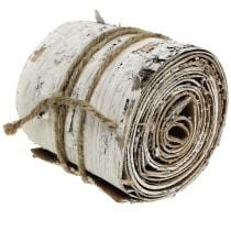 Rotolo di corteccia di betulla lavato bianco 10 cm x 2,5 m