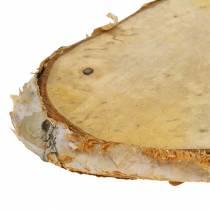 Fette di legno di betulla ovale naturale 7,5 × 13 cm 1 kg