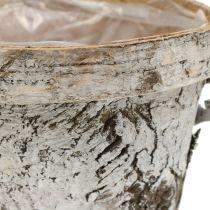 Birkentopf con bordo medio Ø16cm H13cm bianco