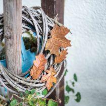 Foglie di metallo da appendere foglie autunnali marrone ruggine 7,5-10 cm 4 pezzi