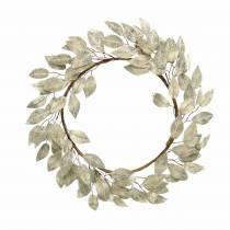 Ghirlanda di foglie foglie artificiali di punta di champagne Ø48cm