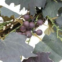 Ghirlanda decorativa foglie di vite e uva Ghirlanda autunnale viti Ø60cm