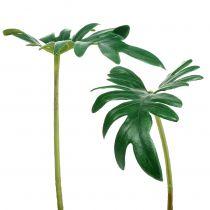 Foglia di filodendro 31 cm verde 12 pezzi